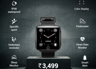 Lenovo Carme Smartwatch launched in India, priced at Rs 3,499